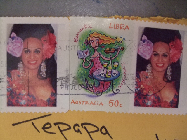 Close up of stamps of Carmen. Photo by Kirstie Ross
