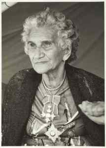 [Dame Whina Cooper], 1980s, New Zealand. Westra, Ans. Purchased 1993 with New Zealand Lottery Grants Board funds. Te Papa