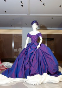 Dita von Teese's wedding gown by Vivienne Westwood unveiled. Photo: Kate Whitley, Te Papa.