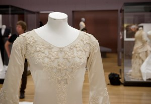 The beautifully adorned, and rather revealing, bodice. Photo: Kate Whitley, Te Papa