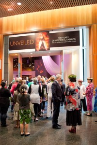 The entrance to Unveiled: 200 Years of Wedding Fashion. Photo: Michael Hall, Te Papa