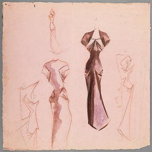 Sketch by Charles James, 1942. Brooklyn Museum Costume Collection at The Metropolitan Museum of Art, Gift of the Brooklyn Museum, 2009; Gift of Mrs. Clive Runnels and Mrs. Edward L. Ryerson, 1957