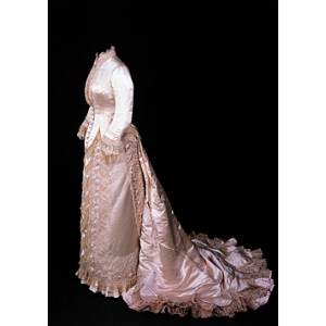 Clara Mathews' wedding dress by Charles Frederick Worth, 1879. Collection of V&A. Given by Mrs G.T. Morton.