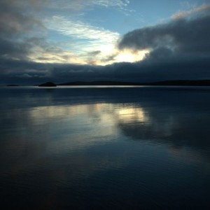 A fantastic sunrise at Terror Cove, Auckland Islands. Te Papa