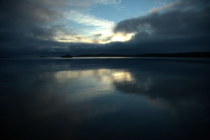A fantastic sunrise at Terror Cove, Auckland Islands. Te Papa