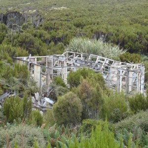 Ruins of the coastwatchers hut.