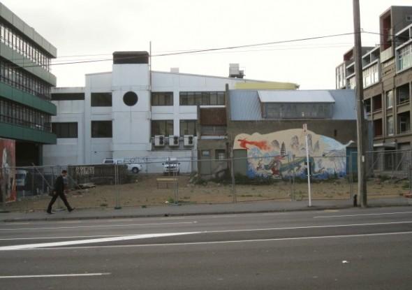 Murdoch factory site, Taranaki St. Photograph © Athol McCredie