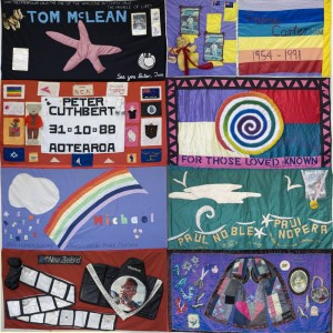 Block 4 of the New Zealand AIDS Memorial Quilt