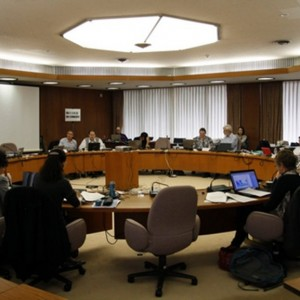 Meeting of specialist on bycatch of seabirds, sharks and turtles at the CCSBT Working Group in Tokyo on 28 - 30 March 2012, at which New Zealand scientists, including Te Papa researchers were participants. Photo: Susan Waugh