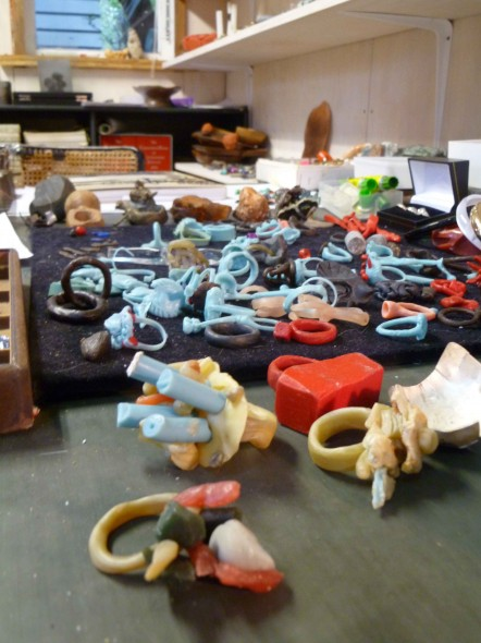 Inside Karl Fritsch's workshop, April 2012. Photo: Justine Olsen, Te Papa.