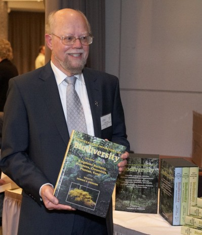 Dennis Gordon with the third volume of the New Zealand Inventory of Biodiversity launched in Wellington 21 May 2012