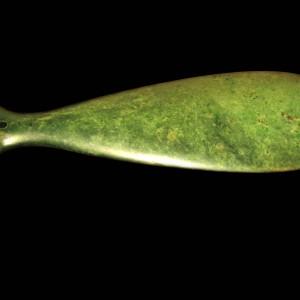 Mere pounamu (greenstone weapon) named Whakaae-whenua. Te Āti Awa iwi (tribe). Te Papa (ME024035)