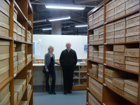 Leon and Lara in the Te Papa's collections. Photo Carlos Lehnebach.Te Papa