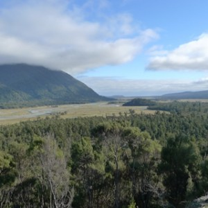 The Cascade Valley, south of Haast, and close to the southern point on our trip. Photo Leon Perrie. © Te Papa.
