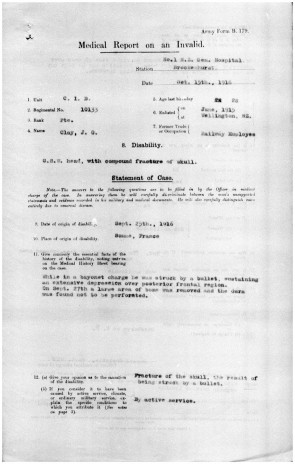 Medical record for John Owen Clay. New Zealand Defence Force Personnel Records. Archives New Zealand.