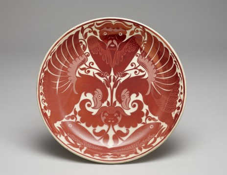 Dish. 1883. Designed by William De Morgan, England. Te Papa