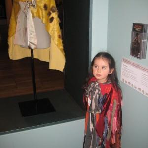 Maia Waldegrave aged 4 from Tai Tamariki with her korowai. Courtesy of Tai Tamariki Kindergarten.