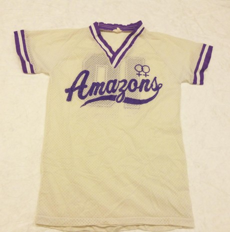 Amazon Softball Club team uniform c.1990.Te Papa