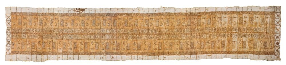 Detailed bark cloth