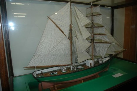 "Model brigantine ""Aborigine"". Image courtesy of Otago Museum"