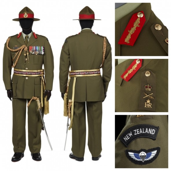 Sir Jerry Mateparae's CDF uniform. Photographer Michael Hall, Te Papa 2012.