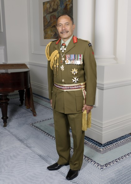 His Excellency Lt Gen The Right Hon Sir Jerry Mateparae GNZM, QSO (Ngāti Tūwharetoa and Ngāti Kahungunu). Photographer Simon Woolf, image courtesy of Government House, 2011.