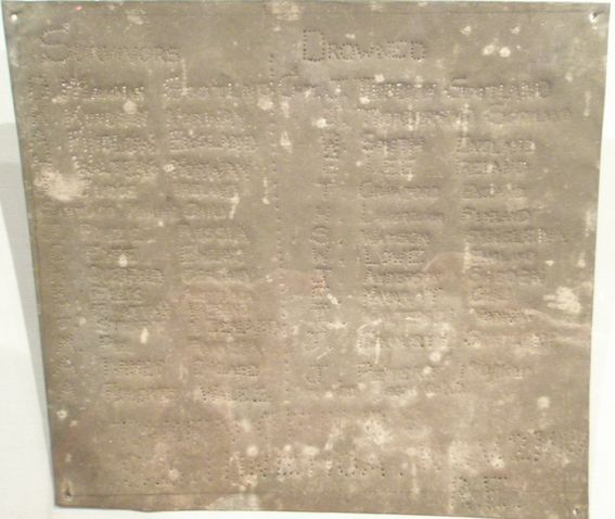 """Dundonald"" commemorative marker .Te Papa"