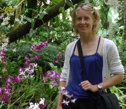 Dr Lara Shepherd at the Garden of the Sleeping Giant, Nadi, Fiji. Photo: Leon Perrie.