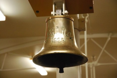 "Ship's bell from the steamship ""Mararoa"" (1885) Image courtesy of Otago Museum"