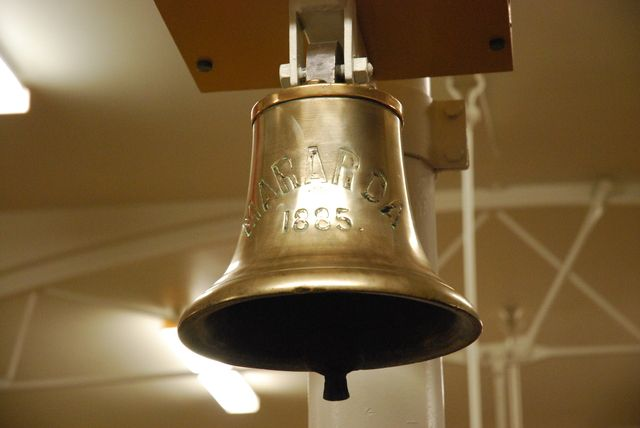 """Ship's bell from the steamship """"Mararoa"""" (1885) Image courtesy of Otago Museum"""