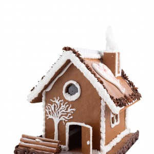 Gingerbread house from a Te Papa kitset