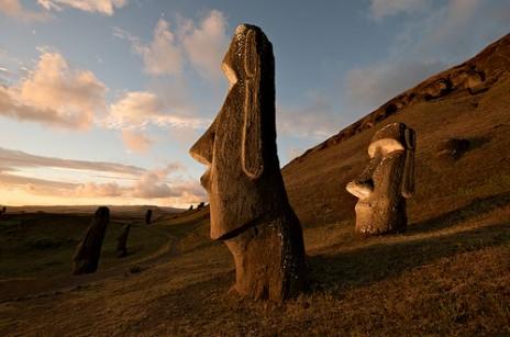 http://worldheritagesites.tumblr.com/post/4064583391/hillside-moai-rapa-nui-national-park-chile
