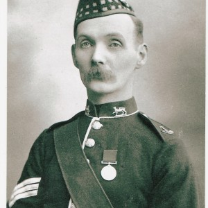 Sergeant John Smith Jackson, late 1880s-90s. Photograph courtesy of Beatrice Jackson and Pat McAllister.