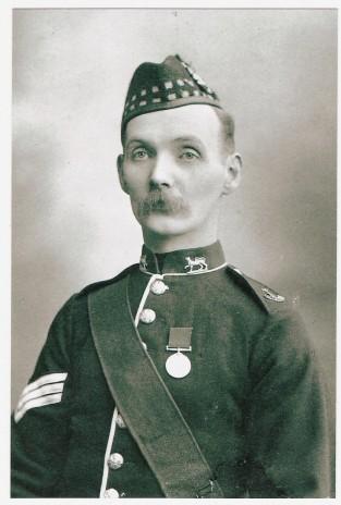 Sergeant John Smith Jackson, late 1880s-90s. Photograph courtesy of Beatrice Jackson and Pat McAllister.