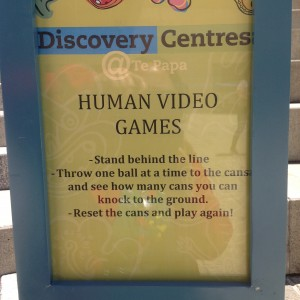 Human Video Games Sign.  Photographer: Maraea R.  © Te Papa.