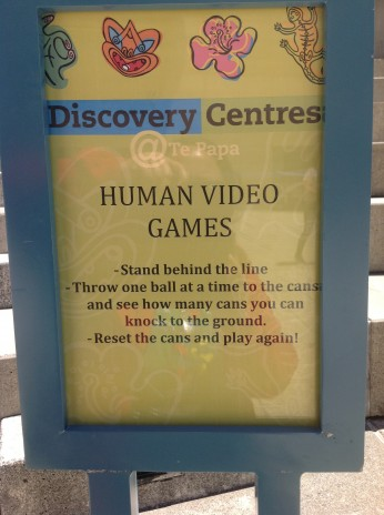 Human Video Games Sign. Photographer: Maraea Rihari. © Te Papa.