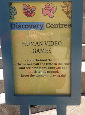 Human Video Games Sign. Photographer: Maraea Rihari. © Te Papa.