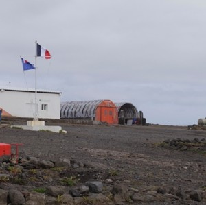 French Research Base Alfred Faure at the Crozet Islands. Image: Susan Waugh, © Te Papa