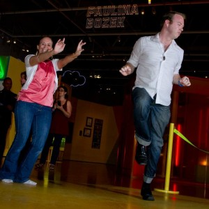 Michelle Wylie and Chris Parnell wiggle their way to victory at December's Premium Experience.