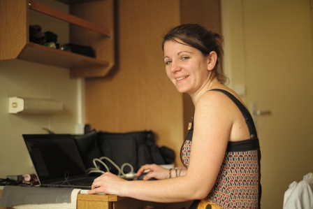 Samantha Patrick CNRS Researcher on board RV Marion du Fresne. Image: Susan Waugh, (C) Te Papa.