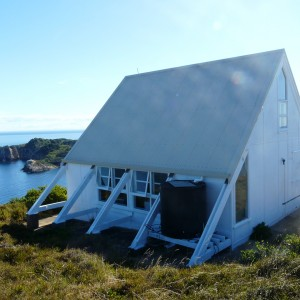 Fig. 2. Old lighthouse accommodation provided a comfortable base with spectacular views. Photo Alan Tennyson, Te Papa