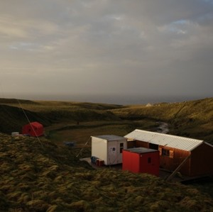 The field accommodation at Pointe Basse albatross colony can house 6-8 researchers, and is well stocked with provisions to allow monitoring of the colony during ciritical periods throughout the year. Photo: Susan Waugh, Courtesy of Susan Waugh.
