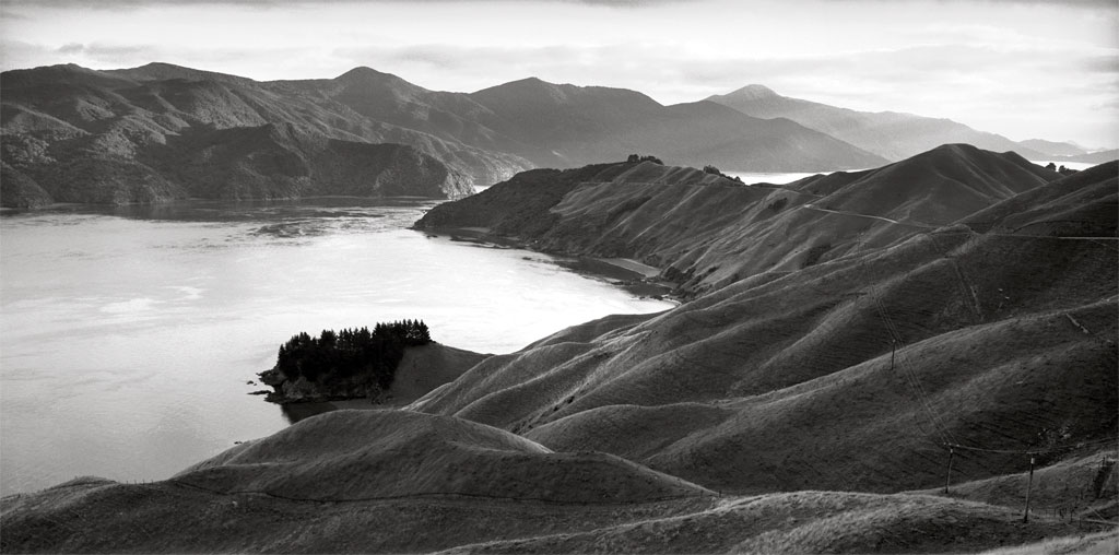 F.007215/04; Te Kawau-a-toru (The pet shag of Kupe) French Pass, Marlborough; 2002