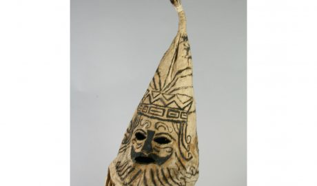 Pare 'eva (mask), Cook Islands, maker unknown. Purchased 1907. CC BY-NC-ND 4.0. Te Papa (FE002321/2)