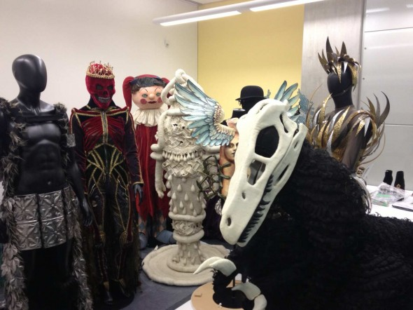 WOW garments wait their turn to go on display in the Eyelights Gallery at Te Papa.