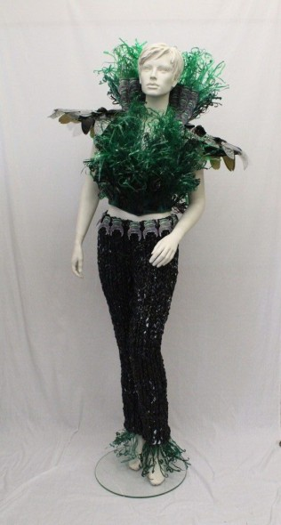 Jess' Lornhorn Beetle inspired garment, which is currently on display at the Te Papa Store on Brandon Street. © Te Papa