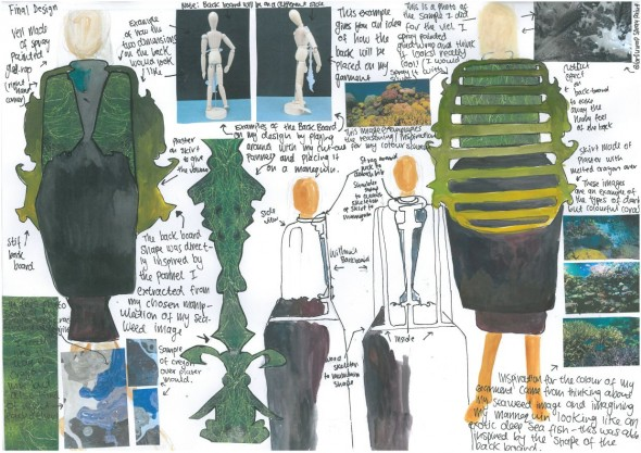 Hannah's sketch of her garment's design. © Hannah van Seventer