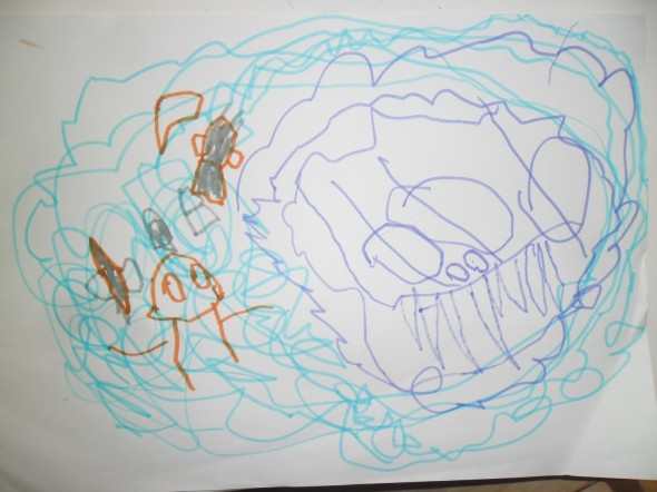 Colossal squid drawing 1, Photographer: Imagine Childcare Centre, © Imagine Childcare Centre