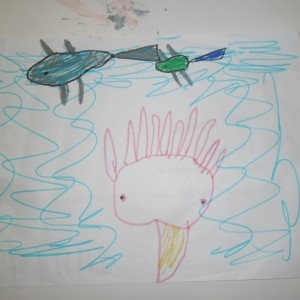 Colossal squid drawing 2, Photographer: Imagine Childcare Centre, © Imagine Childcare Centre