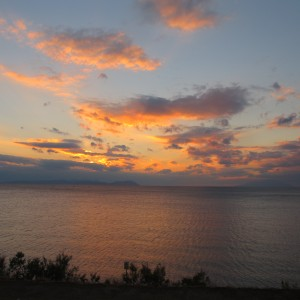 Sunset looking out from Beach Cemetery, Gallipoli. Photograph by Puawai Cairns, copyright Te Papa 2013